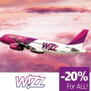 Wizz air -20%